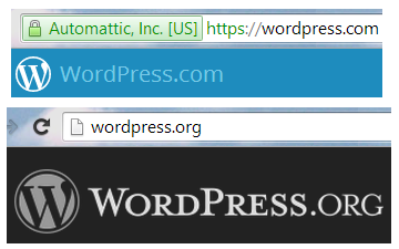 WordPress.org and WordPress.com
