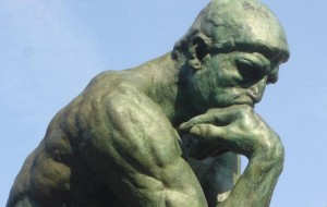 Rodin's Thinking man, probibly couldn't think what to call his new web site