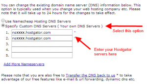 Putting the host and domain together - namecheap hosting address