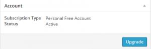 Akismat account settings