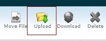 Cpanel File Management upload option