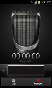 Talk your way to success - voice recorder